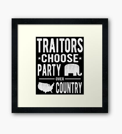 Traitors Party over Country Framed Print