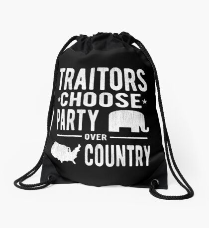 Traitors Party over Country Drawstring Bag