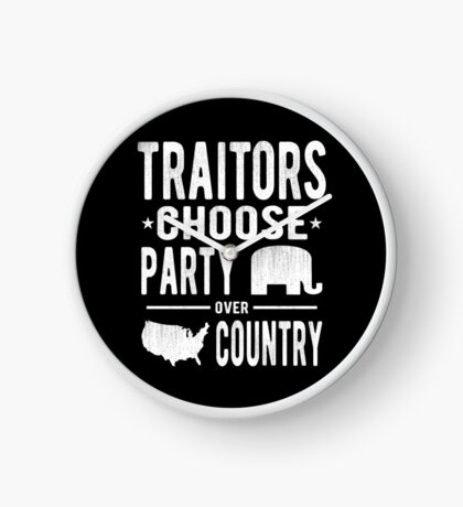 Traitors Party over Country Clock