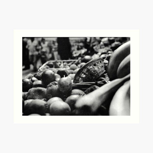 Fruit & A Basket Art Print