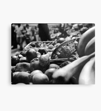 Fruit & A Basket Metal Print