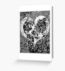 """""""Love Yourself"""" Heart shaped world, Ink 1990 Greeting Card"""