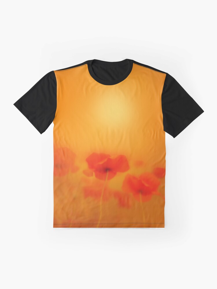 Alternate view of Poppies in gold  Graphic T-Shirt