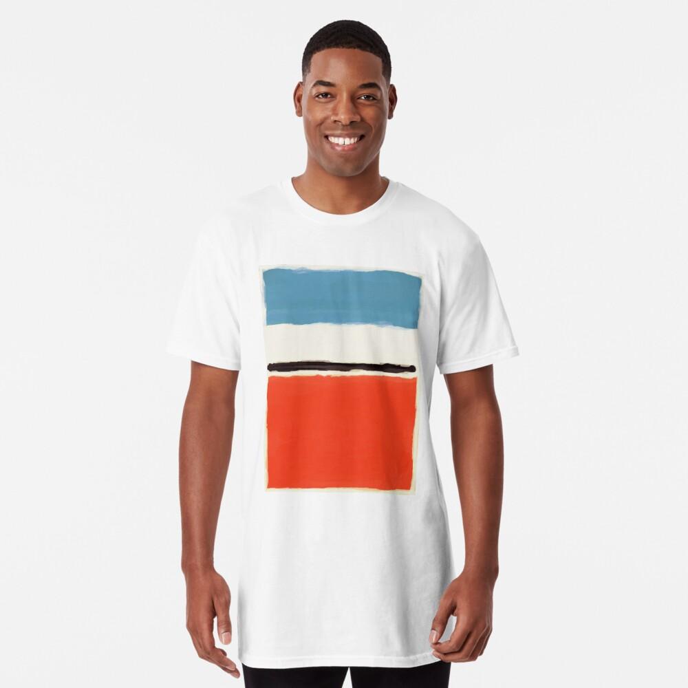 Weiße Mitte Longshirt