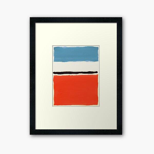 White Center Framed Art Print