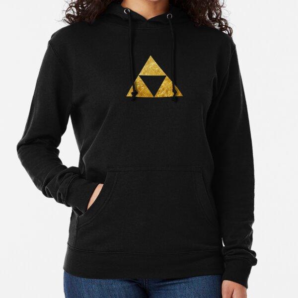 Gold Triforce Symbol Zelda Leichter Hoodie