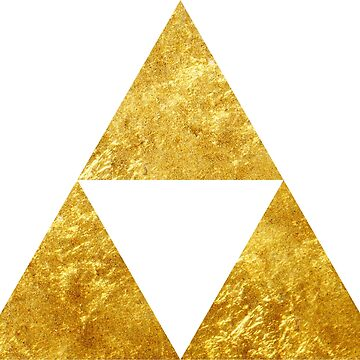 Gold Triforce Symbol Zelda by 58mm