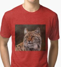Eurasian Lynx Tri-blend T-Shirt