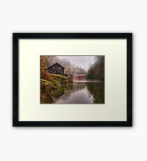Morning At the Mill - McConnells Mill, PA Framed Print