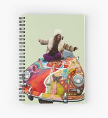 janis on her psychedelic porsche Spiral Notebook