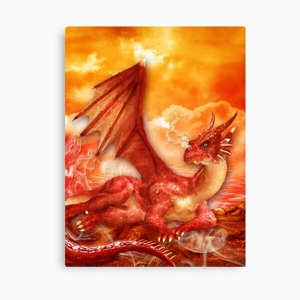 Red Power Dragon Leinwanddruck