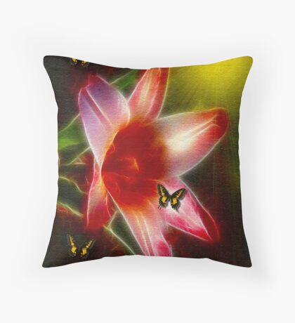 ~ TULIP ~ IN FULL BLOOM ~ Throw Pillow