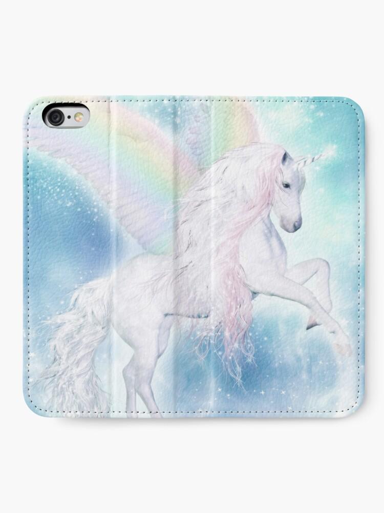Alternative Ansicht von Rainbow Pegasus iPhone Flip-Case