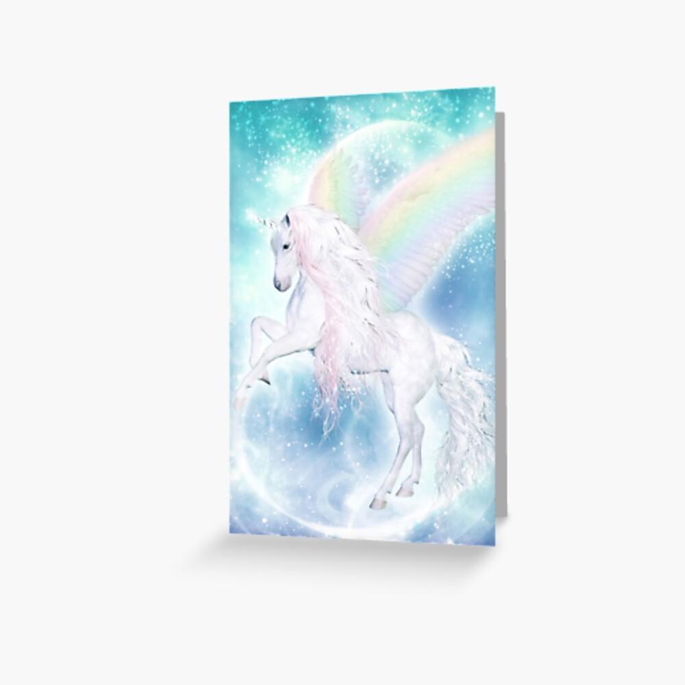 Rainbow Pegasus Grußkarte