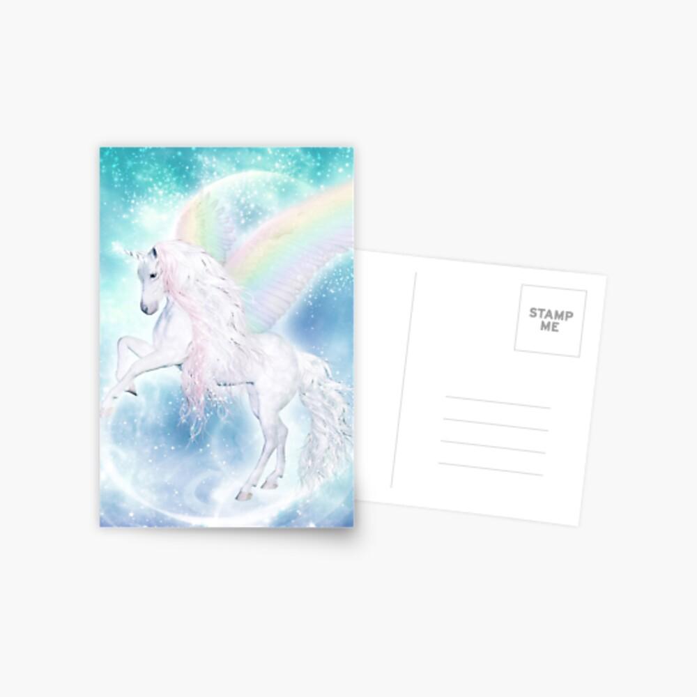 Rainbow Pegasus Postkarte