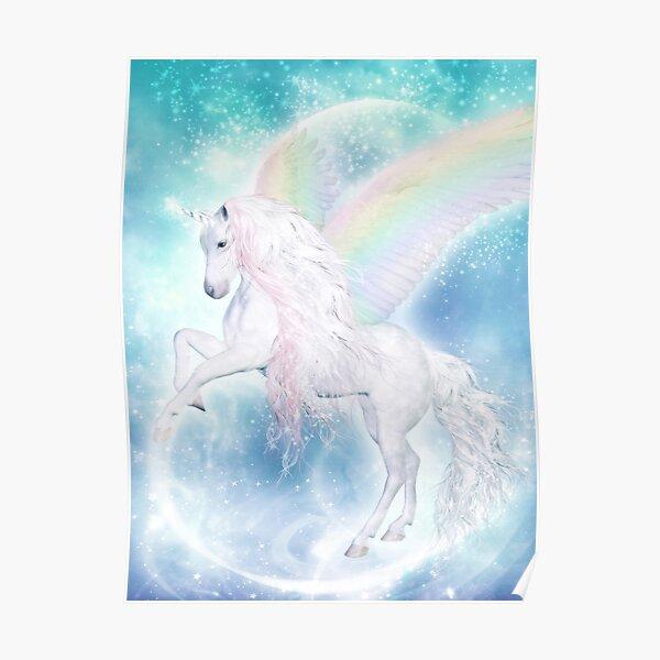Rainbow Pegasus Poster