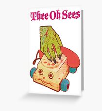 Thee Oh Sees Castlemania Greeting Card