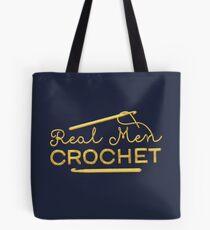Real Men Crochet Tote Bag