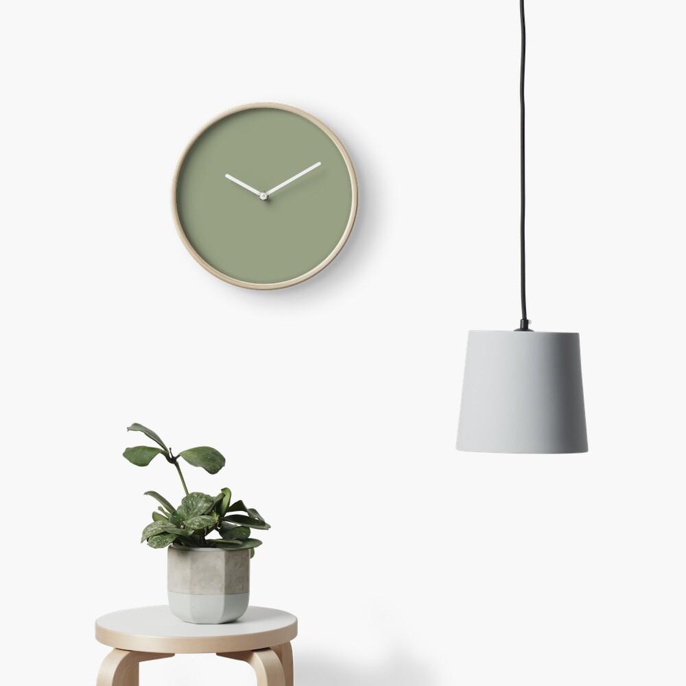 Flechtengrün Uhr