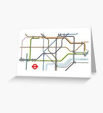 Minimalist tube map Greeting Card