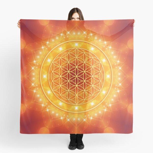Flower of Life - Golden Light Energy Tuch