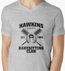 Hawkins Babysitting Club : Inspired by Stranger Things Men's V-Neck T-Shirt