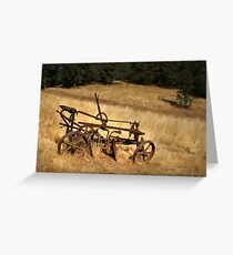 Old Plough Greeting Card