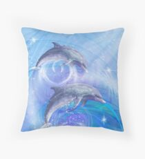 Dolphins Joyride Throw Pillow
