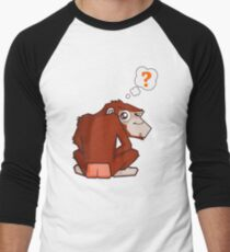 Monkey WTF??? Men's Baseball ¾ T-Shirt