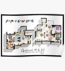Friends Apartment Poster