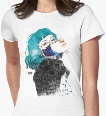 If you shut me up by elenagarnu Fitted T-Shirt