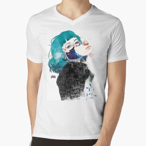 If you shut me up by elenagarnu V-Neck T-Shirt