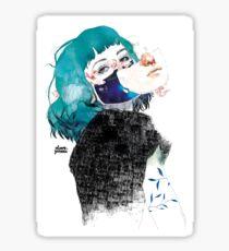 If you shut me up by elenagarnu Sticker