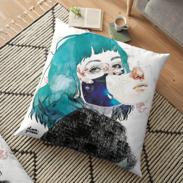 If you shut me up by elenagarnu Floor Pillow