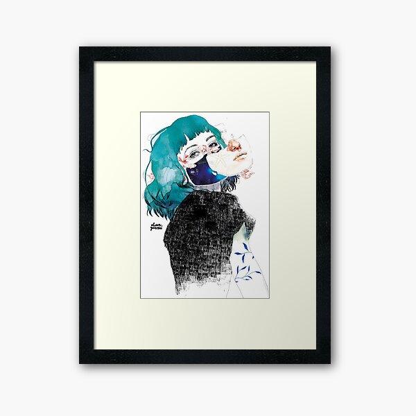 If you shut me up by elenagarnu Framed Art Print