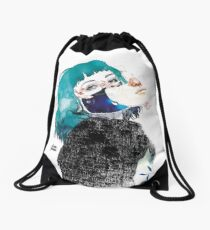 If you shut me up by elenagarnu Drawstring Bag