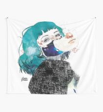If you shut me up by elenagarnu Wall Tapestry