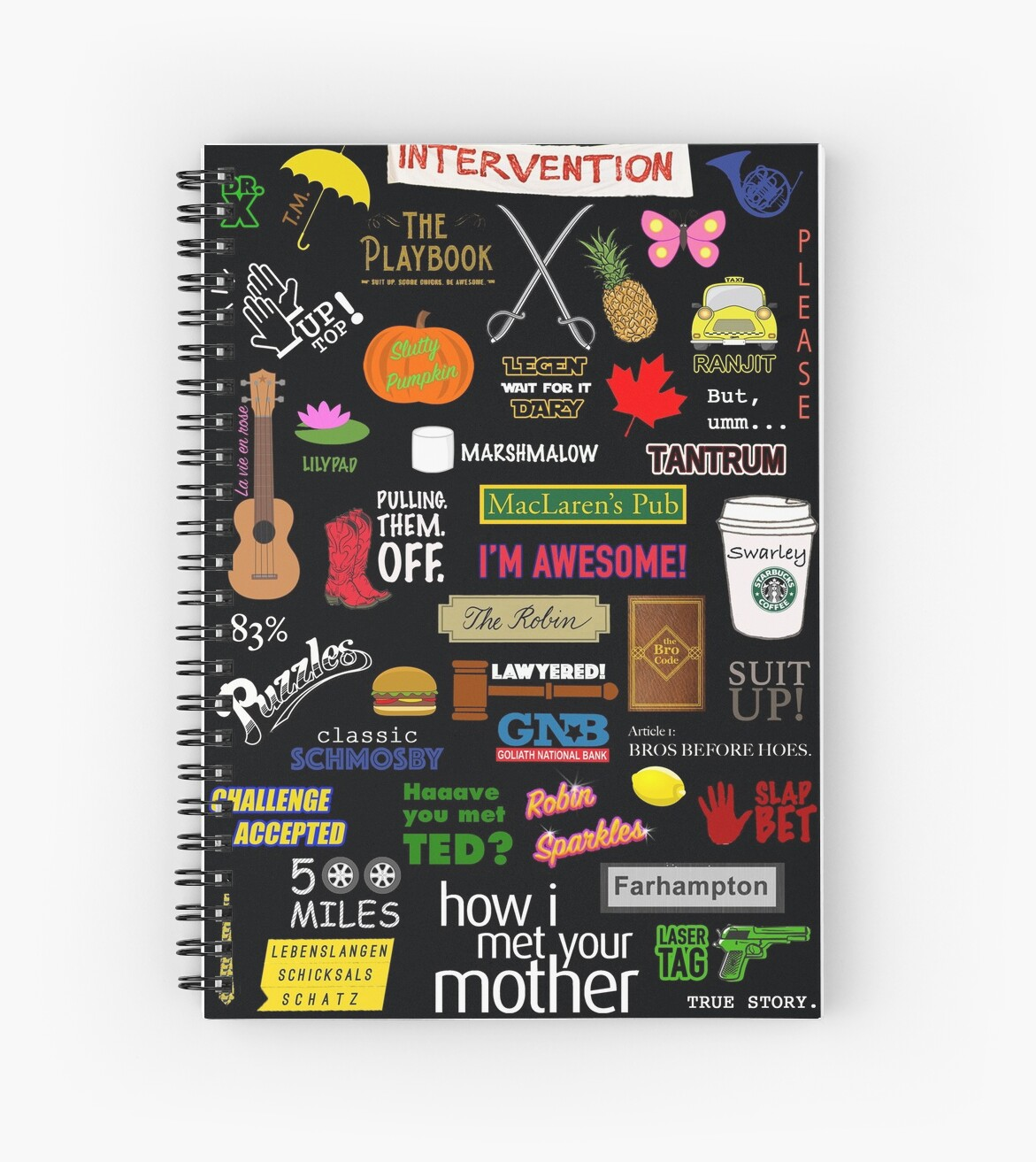 Rode Design Bank.How I Met Your Mother Spiral Notebook By Anujsindgi Redbubble