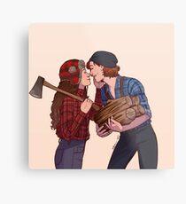 lumber girlfriends Metal Print