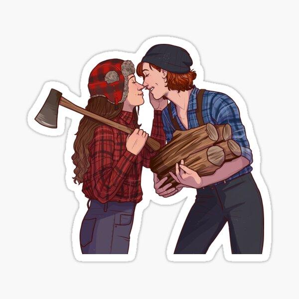 lumber girlfriends Sticker