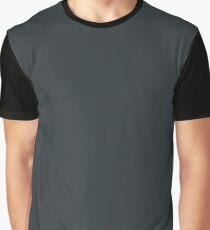Hague Blue | Solid Colour Graphic T-Shirt