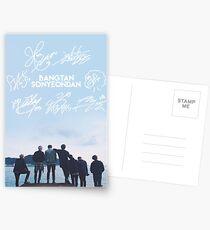 BTS Signature light blue Edit [READ DESCRIPTION] Postcards