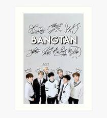 [SIGNATURE] BTS Kings Edit Art Print