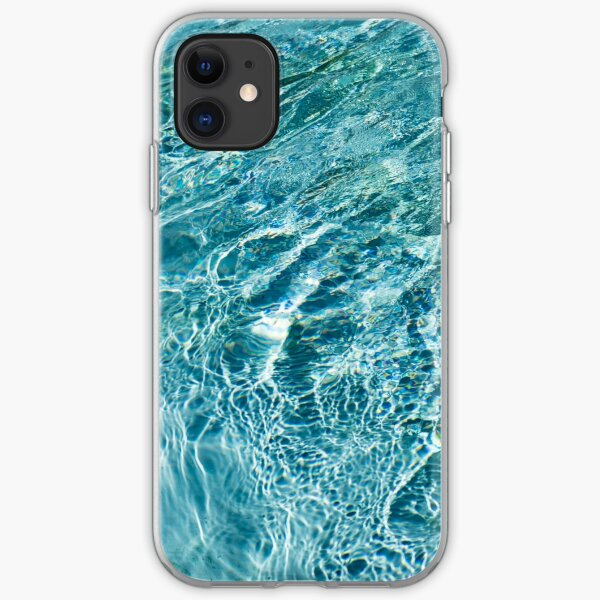 Aquamarine and Turquoise Rainbows - Gems in a Fountain - Horizontal iPhone Soft Case