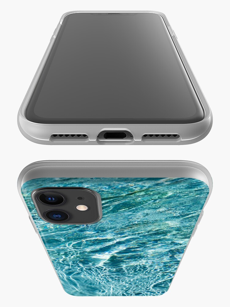 Alternate view of Aquamarine and Turquoise Rainbows - Gems in a Fountain - Horizontal iPhone Case & Cover