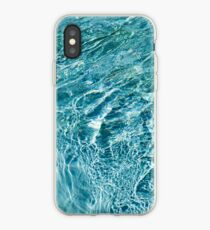 Aquamarine and Turquoise Rainbows - Gems in a Fountain - Horizontal iPhone Case