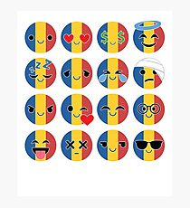 Romania Emoji   Photographic Print