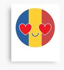 Romania Emoji   Canvas Print