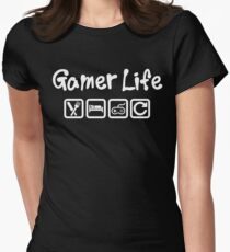 GAMER LIFE - EAT SLEEP GAME REPEAT Women's Fitted T-Shirt