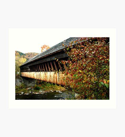 Woodstock, VT covered bridge Art Print